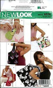 New Look 6574 sewing pattern HANDBAG PURSE TOTE sew Phone Camera BAG Craft UNCUT