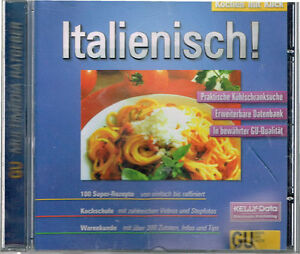Cooking With Click Italian! CD ROM Top Condition