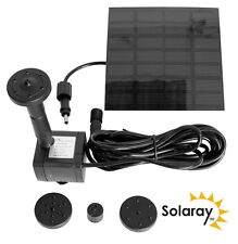 Solar Water Pump Kit with 4 Fountain Heads for Electric Features / Garden Ponds