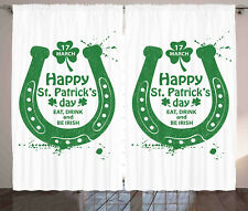 St. Patrick's Day Curtains Celebration Window Drapes 2 Panel Set 108x84 Inches
