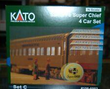 N Scale Kato 106-6003 * Santa Fe Super Chief 4 Car Set C Passenger cars