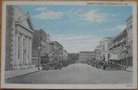 1930 Postcard: Market Street-Pocomoke City, Maryland MD
