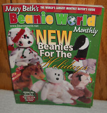 "#7669 Mary Beth""s Beanie World Monthly Magazine December 1998"