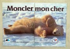 E205 - Advertising Pubblicità - 1986 - MONCLER MON CHER IL VERO PIUMINO