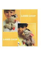 Lamb Chop Glove Puppet Knitting/Crochet Pattern PATTERN ONLY-DK ±lc1
