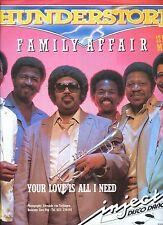 THUNDERSTORM family affair 12 INCH 45 RPM HOLLAND 1984 EX