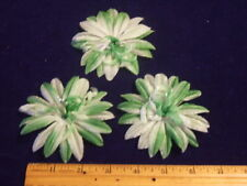 Vintage Millinery Flower Green Organdy Swirl Lot of 3 Shaded G3 for Hat + Hair