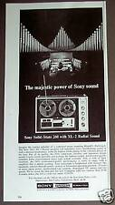 1966 SONY 260 Reel to Reel Tape recorder print ad
