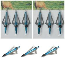 Pack of 12 Broadheads Crossbow Arrow Head Tips Bolts 100 grn UK New