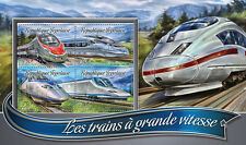 Togo 2016 MNH High-Speed Trains 4v M/S Bombardier Zefiro Talgo Railways Stamps