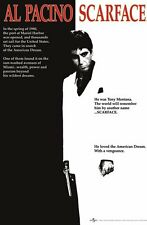 Scarface Large Poster. Theatrical one Sheet. Al Pacino. Officially Licensed