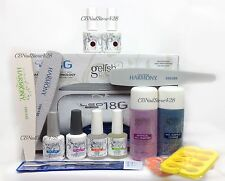 Harmony Gelish Kit A - 18G PLUS Lamp, Base Top Bond Oil, 2 Colors & FREE Gifts