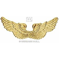 GOLD PLASTIC ANGEL WINGS Accessory for Heaven Religious Christmas Fancy Dress