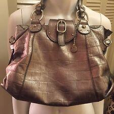 Lamarthe Silver Metallic Leather Handbag