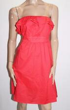 Hot Options Brand Poppy Red Frill Strapless Dress Size 12-M BNWT #SU67