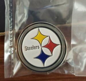 Pittsburg Steelers Metal Lapel Hat Pin Metal Approx 1 in x 1 in