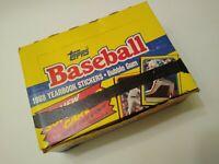 1988 Topps Baseball Yearbook Stickers Box 48 Sealed Packs