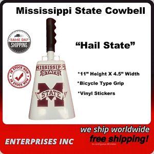 "11"" Cowbell Mississippi State University MSU Bulldogs White/Black Football"