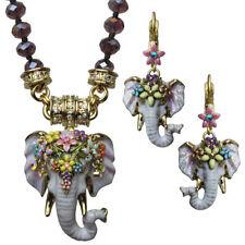Kirks Folly Elephant Walk 3 Piece Set  Magnetic Neclace & Earrings  Goldtone