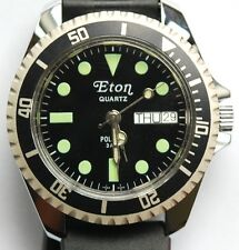 VINTAGE NEW OLD STOCK NOS MENS ETON POLARIS DIVE DIVER WATCH LOLLYPOP 3 ATM GLOW