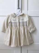 vintage hand embroidery Baby Jacket Smocked Dress
