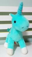 Pumpkin Patch Teal / Aqua Unicorn Clasp Purse w/ Reins Plush Toy 29cm Tall!