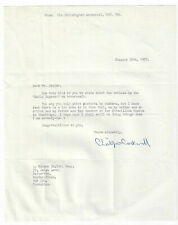 Christopher Cockerell Signed Letter 1973 / Autographed Hovercraft Inventor