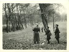 France, Premiere chasse présidentielle à Rambouillet, 1920 Vintage silver print