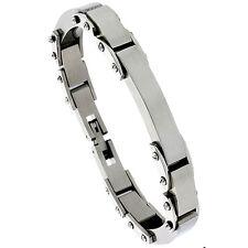 Stainless Steel Solid Heavy Link ID Bracelet