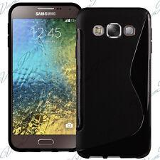 Carcasa TPU silicona Gel S-Line Samsung Galaxy Negro E5 SM-E500F E500H