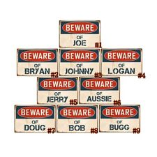 Retro Metal Plate Beware of Jerry Vintage Tin Signs Pub Bar Art Wall Decor