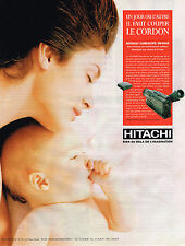 PUBLICITE ADVERTISING 104 1995  HITACHI   caméscope VM-H80E