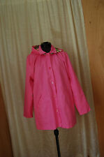 Lilly Pulitzer Pink Cotton Hooded Jacket Coat Size 14 Junior (check measurements