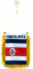 """Wholesale lot 3 Costa Rica Mini Flag 4""""x6"""" Window Banner w/ suction cup"""