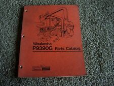 Waukesha Dresser P9390G P 9390 G Diesel Engine Factory Parts Catalog Manual