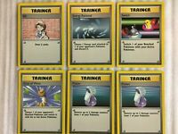 Pokemon Base Set Trainer Lot 6 Cards Mint//Near Mint Bill Energy Removal /& More