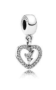 New Authentic Genuine Pandora Silver Love Tinkerbell Disney Charm - 791565CZ