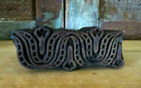 Detailed Primitive Farmhouse Carved wood Double PA Dutch TULIP Butter Mold Stamp