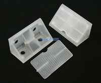 40 Translucent Plastic Right Angle Corner Brace Corner Bracket