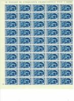 S30813) Kingdom D'Italia 1934 MNH Lustre Fiume L.1,25 Full Sheet not Folded