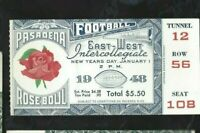 1948 Rose Bowl football ticket stub Michigan Wolverines v USC Trojans 12 56 108