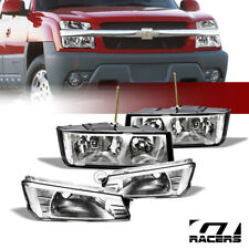 For 2002-2006 Avalanche Body Cladding Chrome Headlights Signal Corner Lamps Nb