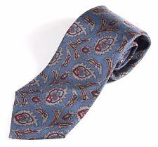 Norseman Vintage 100% Silk Men's Neck Tie Blue & Red Paisley Funky