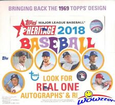 2018 Topps Heritage Baseball MASSIVE Factory Sealed 24 Pack Retail Box-216 Cards