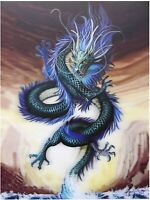 Blue Chinese Dragon 3D Lenticular Poster