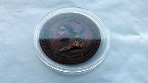 Rare Bronze 50th Anniversary of Queen Victoria Medal Very Fine Condition
