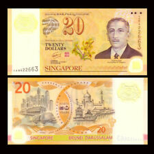 Singapore 20 Dollars, 2007, P-53, Polymer, Commemorative, UNC