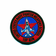 65 mm USA TOP GUN Navy Fighter Weapons School US Patch Aufnäher Aufbügler 0900 B