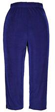 Jostar  Acetate Slinky Stretchy Travel Knit Capri Pants Royal Blue ~ XL
