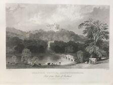 1844 Antiguo impresión; Belvoir Castle, Leicestershire, después de Thomas Allom